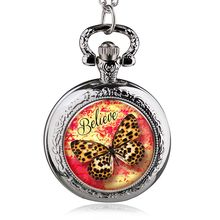 fashion classic butterfly pocket watch with chian Coupon for wholesale price good quality