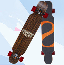 74L-18 Free Shipping KOSTON pro dancing style longboard completes with bamboo & canadian maple mixed ,46inch long skateboard set