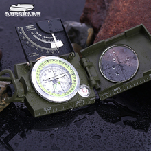 American Military Multifunctional Luminous Compass with Ruler Level Handheld Outdoor Survival Car Compass Army Green Color