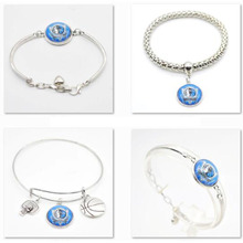 2017 New Jewelry Bracelet Dallas Mavericks Charms Sport Bracelet Bangle Women Men Basketball Fan Fashion  Accessories