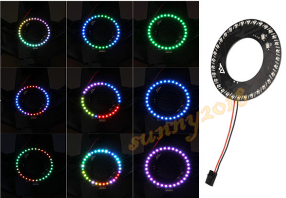 1pc Color changing LED Circle Searchlight For YUNEEC Q500 FPV Quadcopter , Has 31 kinds of changes necessary night lighting<br><br>Aliexpress