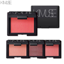 KIMUSE Exquisite Baked Makeup Blush Palette Cream Blush Blusher With Mirror And Brush Natural Bare Make Up(China)