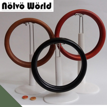 5 pairs=10 pieces,14cm Big Round Ring Wood knit bags handbags handle,Make your own Wooden bag purse circle handle