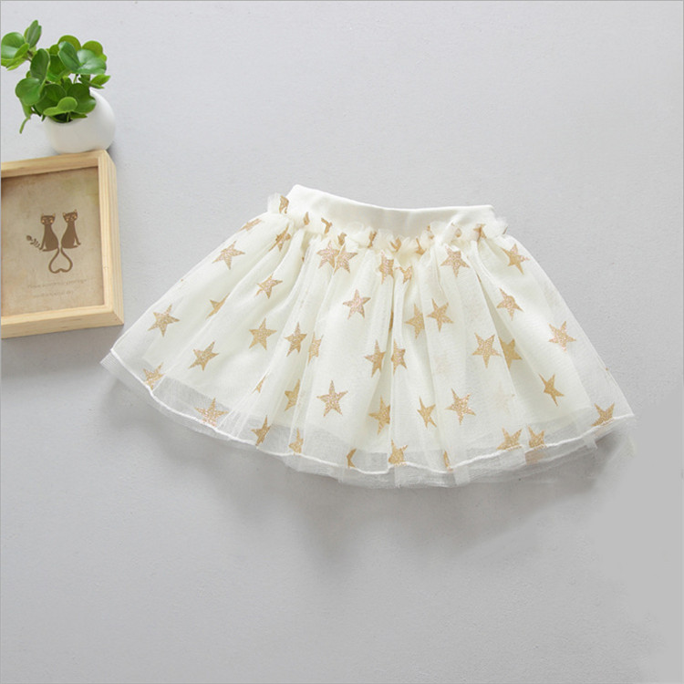 Fanfiluca New Baby Girl Clothes Tutu Skirt Ballerina Pentagram Children Ballet Skirts Party Dance Princess Girl Tulle Miniskirt004
