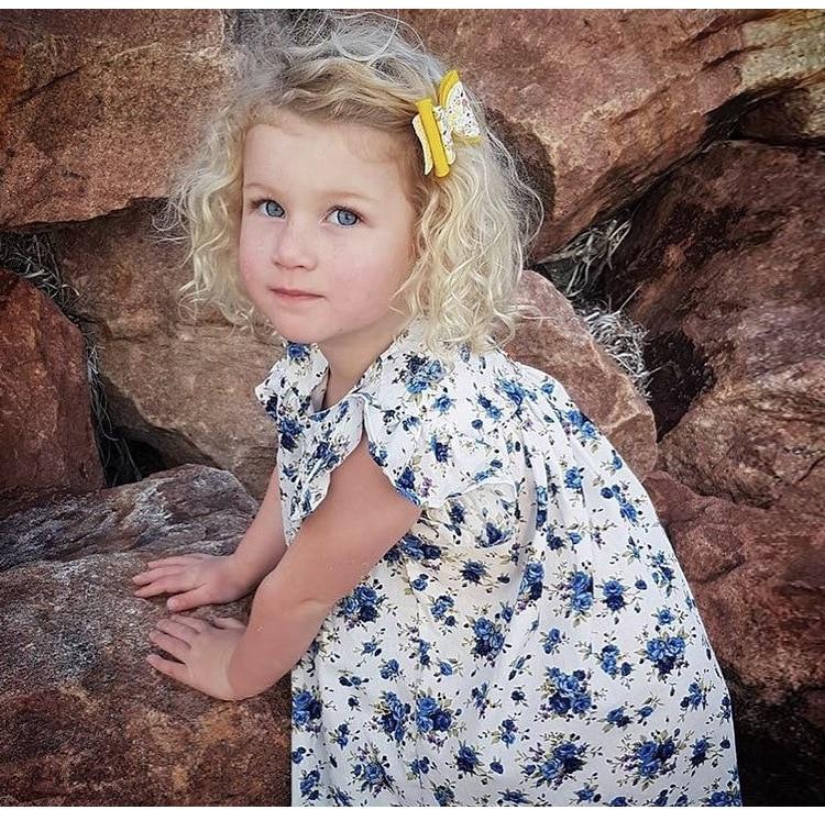 Mother nest 2018 Summer New Girls Flower Puff Sleeves Dress Cotton Children Kids Clothes Toddler Baby Birthday Kids Dresses (20)