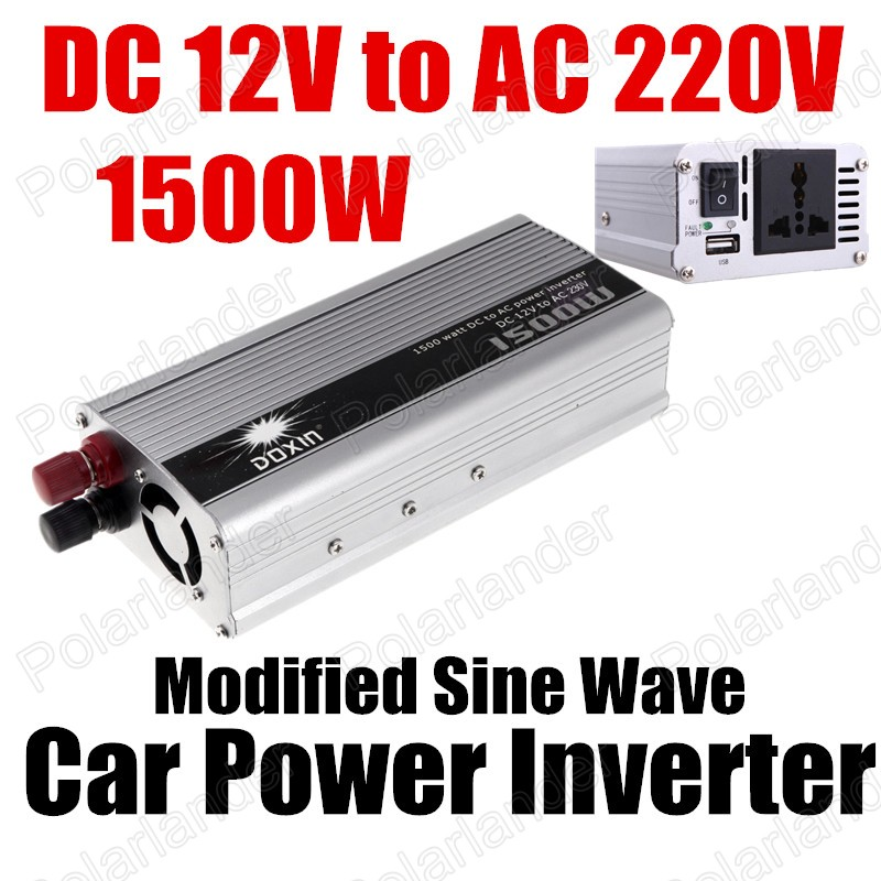 Free shipping 1500W Power Inverter DC 12V to AC 220V modified sine wave car Power converter USB charger<br><br>Aliexpress
