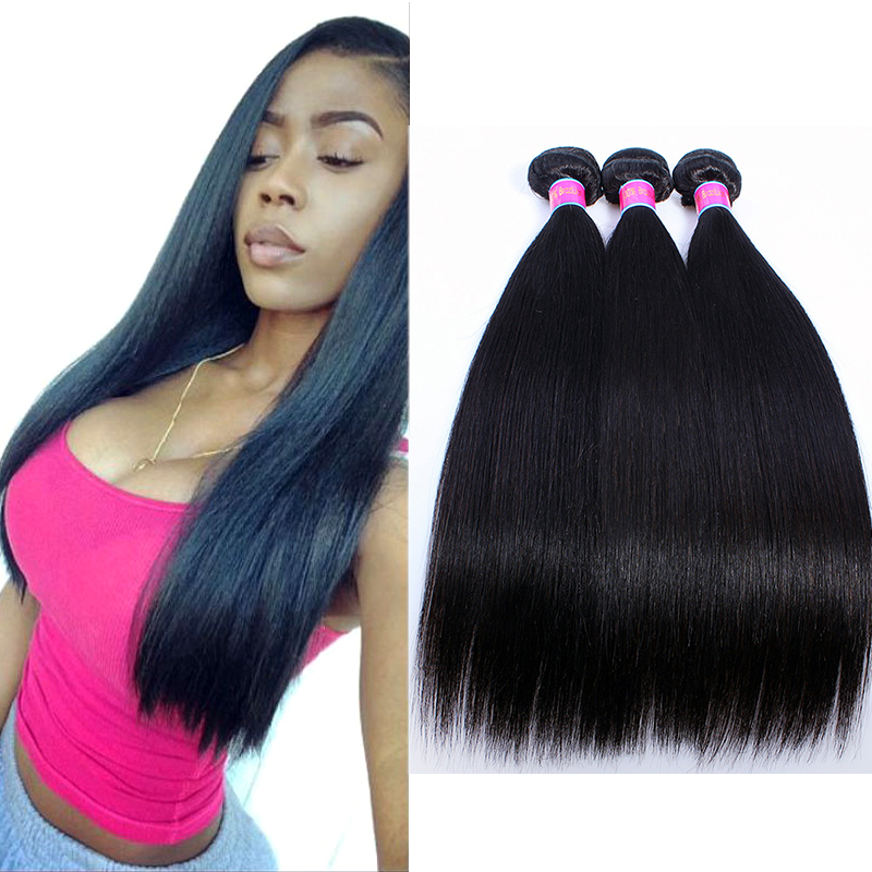 Brazilian Straight Hair 8A Brazilian Virgin Hair Straight 3 Bundles Brazilian Hair Weave Bundles Unprocessed Human Hair Weave<br><br>Aliexpress