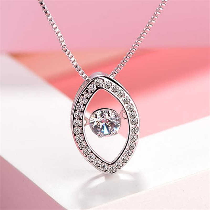 ... Fashion 925 Sterling Silver Necklaces For Women Exquisite Turkey Eye  Dynamic Crystal Stone Pendant Necklace Jewelry on Aliexpress.com  8568620e5ebc