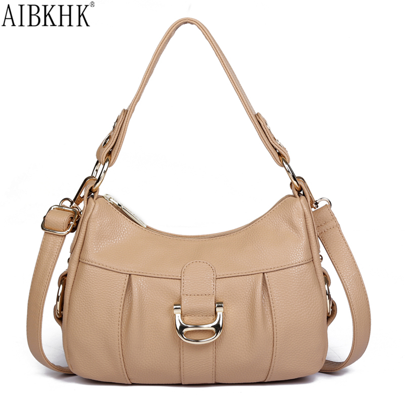 AIBKHK Mammy Style Satchel Women Gift Famous Brands Luxury Genuine Leather Designer Handbags High Quality Shoulder Crossbody Bag<br><br>Aliexpress