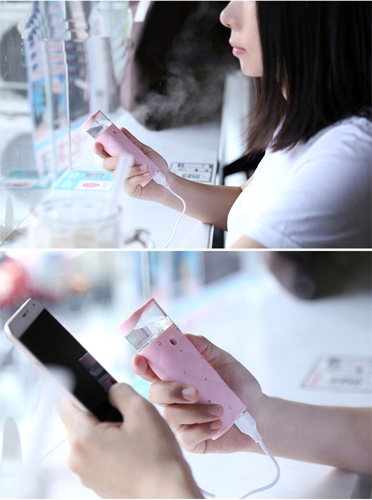 USB Charging Nano Mist Face Spray For Women Portable Face Sprayer Multifunction Moisturizing Facial Care Tool With Power Bank 19