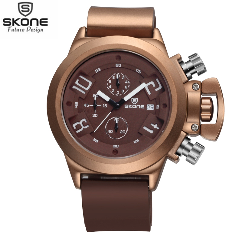 SKONE Brand Mens Watches with Date Chronograph Sport Watch for Men Guaranteed Military Silicone Wristwatches Relogio Masculino<br><br>Aliexpress