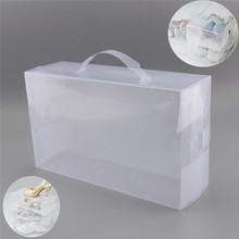 30X18 X10cm Women Ladies Stackable Plastic Storage Shoe Boxes Foldable Clear Shoe Box Storage