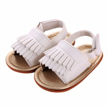 Summer Solid PU Leather Baby Girl Shoes First Walkers Footwear, Soft Sole Fringed Sapato Infantil Menino Moccasins Shoes #1A1006(China)