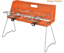 protable gas stove, outdoor gas stove, gas BBQ grill.double burners grill