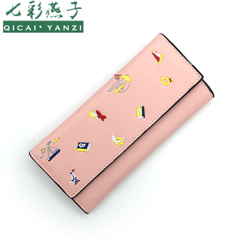 QICAI.YANZI Lovely Boat Printing Women Long Wallet...