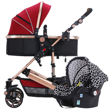Hot Sale Fashion Baby Stroller 3 in 1 Foldable Infant Trolley,Portable Baby basket, Baby stroller,poussette pliante Portable