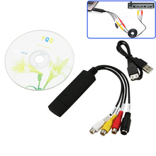 Portable Easy Cap USB 2.0 Video Capture Card Adapter VHS to DVD Video Capture Converter TV Tuner Cards For Win7/8/XP/Vista P0.11(China)