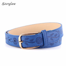 Hot fashion Retro embossed wide belt Jeans for women straps 2017 high quality women's belts Student belt ceinture femme N100