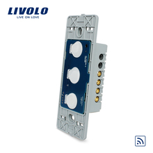Livolo US standard Wall Light Remote Touch Switch Base board , 3gang 1 Way,Without Crystal Glass Panel, VL-C503R(China)