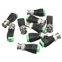 10Pcs Coaxial CAT5 6 To BNC Camera CCTV TV Video Balun Cable Connector ABS Material Housing Adapter Socketz