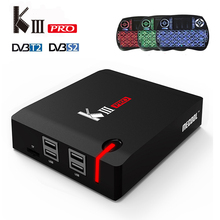 Buy KIII Pro Android 6.0 TV Box DVB-S2/DVB-T2 Amlogic S912 Octa core 3GB 16GB ROM 2.4G/5G Wifi BT4.0 Smart Media Player+i8 backlight for $124.00 in AliExpress store