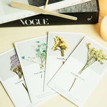 30pc/lot New Dry flower retro message gift business card / Valentine's Day New Year greeting universal cards(China)
