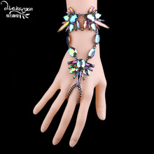 Dvacaman Brand 2017 Women's Crystal Charm Bracelet Boho Style Beach Hand Jewelry Accessory Wedding Bridal Bijoux Drop Ship AA79