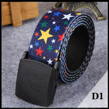 2017 Nylon Web Women Belts Webbing YKK POM Plastic Buckle Belt for Men Automatic Smoothing Buckle