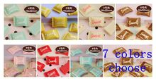 40 PCS resin candy girl headgear accessories. Scrapbook accessories 16*22mm 7 color optional 9605