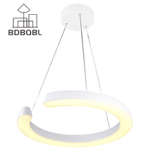 BDBQBL C Type LED Pendant Lamp Kitchen Restaurant Dining Room Table 24W 30W White Pendant Light Famous Design Home lighting(China)