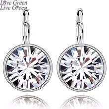 promotion wedding brand Factory Wholesale GP Austrian Crystal round Pendant sugar drop Earrings Fashion Jewelry 90089(China)
