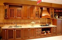 Cherry wood kitchen cabinet