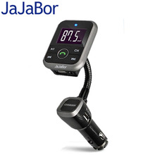 JaJaBor Bluetooth Car Kit Wireless Handsfree FM Transmitter With USB Charger Car MP3 Player FM Modulator Support USB SD TF Card(China)