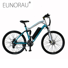 EUNORAU 36V250W rear hub motor electric mountain 27.5 full suspension bicycle(China)