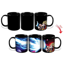 Kamehameha Goku Mug Heat Reactive Coffee Cup Dragon Ball Z Mug Colored Changing Ceramic Magic Cups(China)