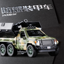 1:32 alloy car model armored explosion proof car metal diecasts,toy vehicles with pull back flashing musical,free shipping(China)