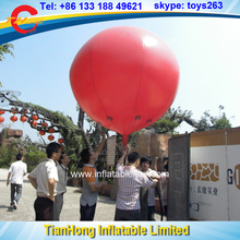 free shipping 2m dia inflatable helium balloons, custom make advertising sky balloon, cheap advertising balloon for sale(China)