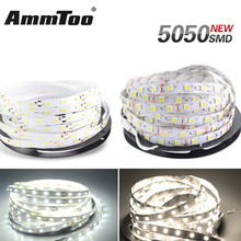 5630 5050 SMD Led Strip Warm White / White DC12V Non-Waterproof 5M 60Led/M Led Strip Fita Led String Bar Light Ampoule Led Lamp(China)