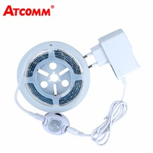 Motion Sensor LED Strip Light SMD 2835 Waterproof Hand Wave Sensor Diode Tape Light Smart Nightlight Bedroom Stair Illumination(China)