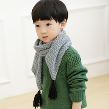 winter design solid scarf boys shawls scarves,2016 fall fashion designer wrap girls kids children scarf echarpe with tassels