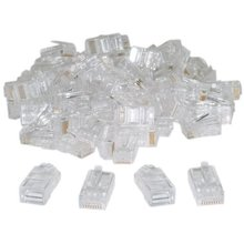 Promotion! RJ45,8P8C,CAT 5 Transparent Crimp Connector Plug , 100 Pieces Per Bag