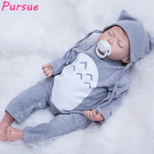 "Pursue 22""/55 cm Cheap Real Silicone Sleep Baby Dolls Reborn Girls Boys Doll Toys for Sale bebe reborn 55 cm silicone realista"