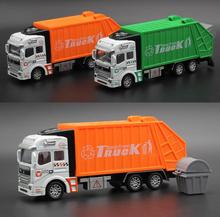 Best Sale 1:32 Model toys 1:32 Racing Bicycle Shop Truck Toy Car Carrier Vehicle Garbage Truck Educational toys