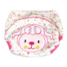 Cute Kids Baby Cloth Diaper Cover Nappy Cotton Underwear Toilet Potty Training Pants(China)