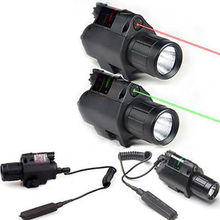Mini high quality tactical performance Good green/ red laser sight and Cree Q5 LED flashlight combination for 20mm rail mounting