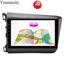 NEW!!4G Android 6.0 2 DIN 9' Quad Core Car dvd Video GPS For Honda Civic 2012-2013 Screen 1024 *600 RDS+wifi+Radio+Youmecity