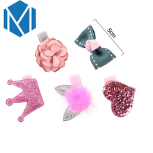 M MISM 1Set=5Pcs Children Sweet Candy Color Hair Clip Bow Flower Heart Shape Hairclips For Girl's Cute Hairpin Hair Accessories(China)