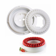 White Symphony Ring Silicone Cake Mould Cakes Baking Pan Decorating Accessories Bakeware Tools