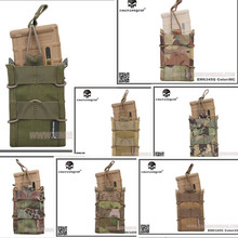 EMERSON Single Unit Magazine Pouch military army Utility MOLLE Vertical Accessories EM6345 khaki brown black