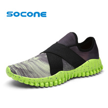 Socone New Summer Sport Sneakers Men Running Shoes Breathable Comfort Sneakers Slip On 2017 Men Comfortable Walking Shoe zapatos